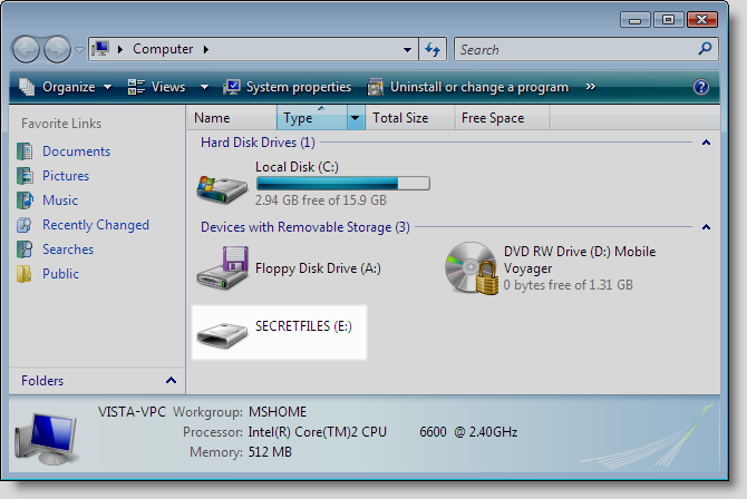 Secure dvd in windows explorer