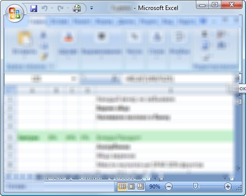 Secure Flash Drive Excel document