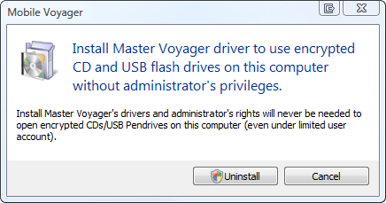 Improved design of driver uninstallation window.