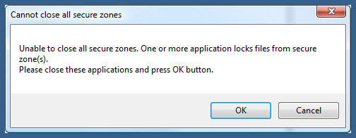 Closing locked secure drive from encrypted cd or encrypted usb