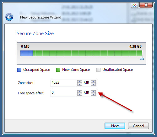 New Secure Zone Wizard - encrypted usb flash drive and encrypted cd